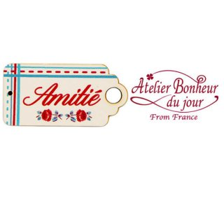 バラ ローズ 雑貨 フランス輸入ボタン アトリエ・ボヌール・ドゥ・ジュール【Amitie Digoin】
