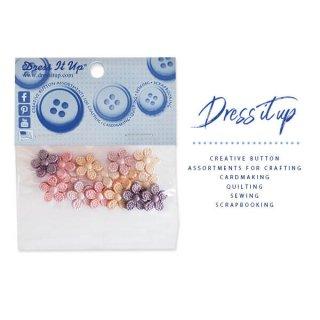 手芸用品 ハンドメイド 素材 USA Dress It Up ボタン クラフト素材(パールフラワー)