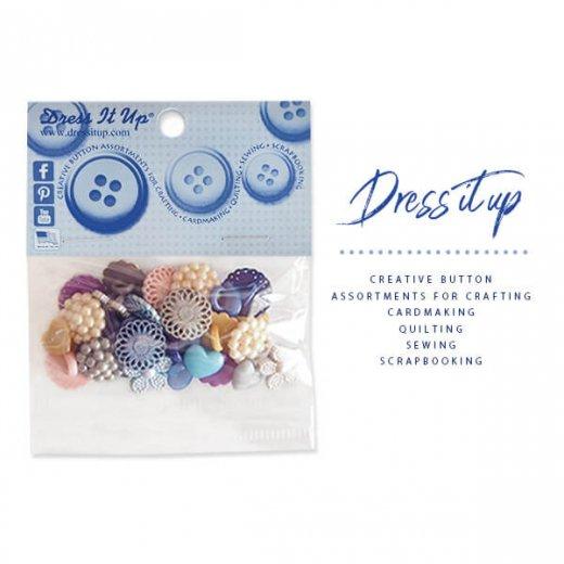USA Dress It Up ボタン クラフト素材(ディープカラーアソート)