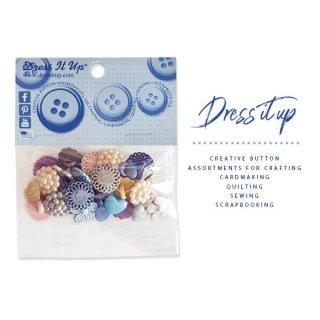 手芸用品 ハンドメイド 素材 USA Dress It Up ボタン クラフト素材(ディープカラーアソート)