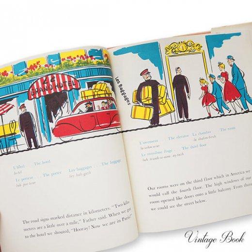 USA  1959年 フランス語→英語 フレーズ絵本 A trip to Paris (ヴィンテージ本)【画像3】