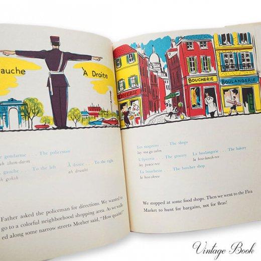 USA  1959年 フランス語→英語 フレーズ絵本 A trip to Paris (ヴィンテージ本)【画像5】