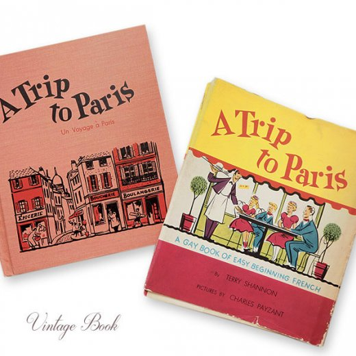 USA  1959年 フランス語→英語 フレーズ絵本 A trip to Paris (ヴィンテージ本)【画像9】