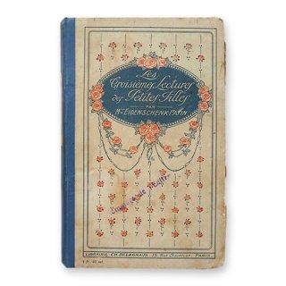フランス蚤の市より 1918年発行 アンティーク本 ローズ (Les troisiemes lectures des petites filles)