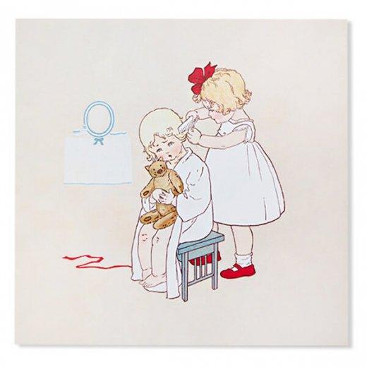 フランス Bigポストカード スクウェア 封筒セット(Peigne cheveux)【画像2】