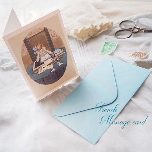 フランス ミニメッセージカード  封筒セット(J'etudie)【画像3】