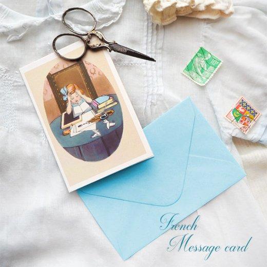 フランス ミニメッセージカード  封筒セット(J'etudie)【画像4】