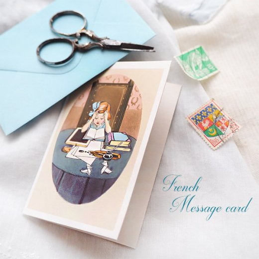 フランス ミニメッセージカード  封筒セット(J'etudie)【画像5】
