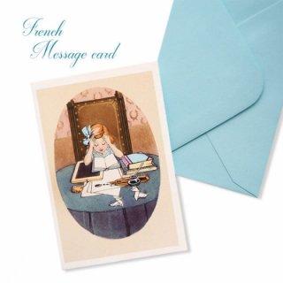 フランス ミニメッセージカード  封筒セット(J'etudie)