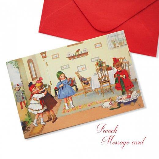 フランス ミニメッセージカード  封筒セット(Bienvenue)