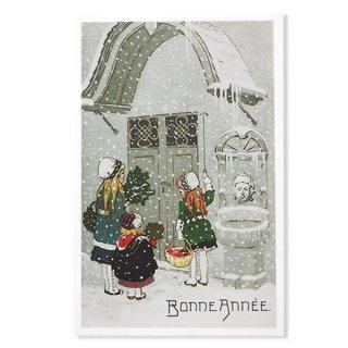 フランス クリスマス ポストカード (Sonne la cloche)