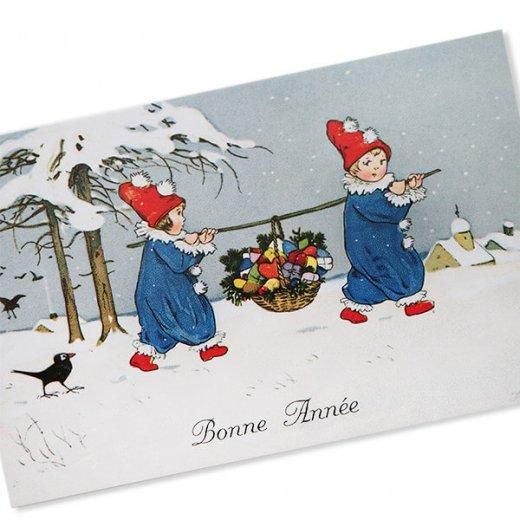 フランス クリスマス ポストカード (Allons ensemble)【画像2】
