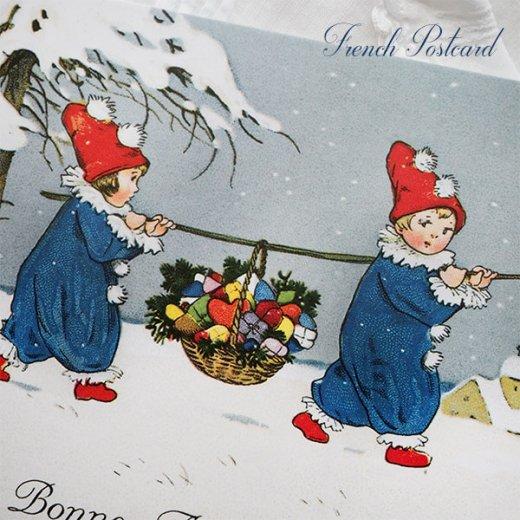 フランス クリスマス ポストカード (Allons ensemble)【画像3】