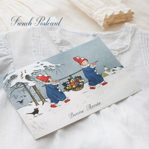 フランス クリスマス ポストカード (Allons ensemble)【画像4】