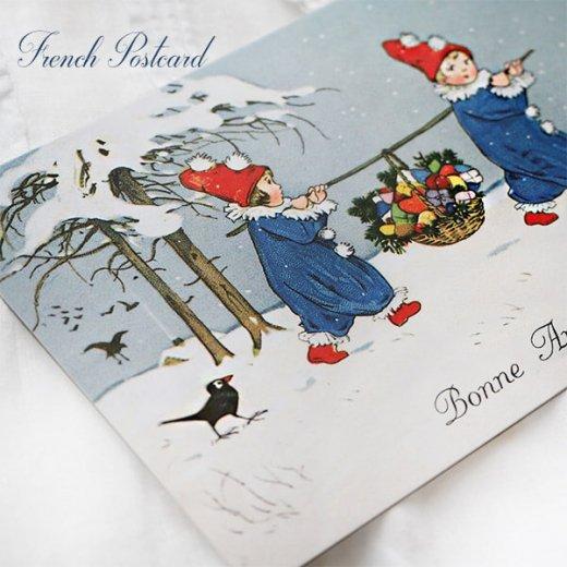 フランス クリスマス ポストカード (Allons ensemble)【画像6】