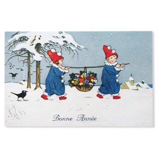 フランス クリスマス ポストカード (Allons ensemble)
