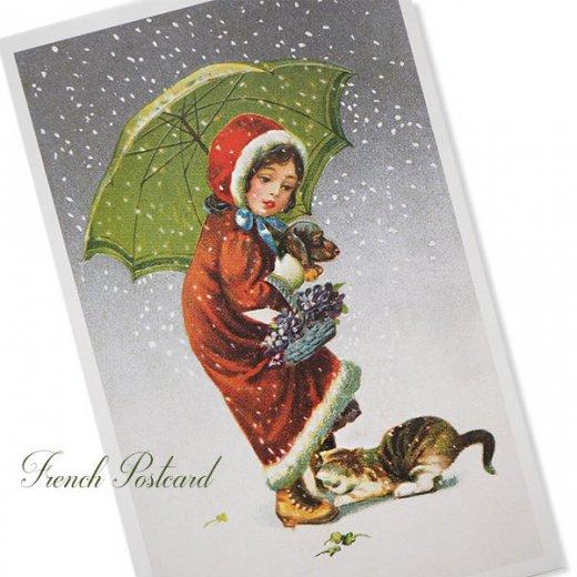 フランス クリスマス ポストカード (Tu viens avec moi?)【画像2】
