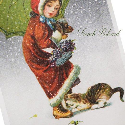 フランス クリスマス ポストカード (Tu viens avec moi?)【画像3】