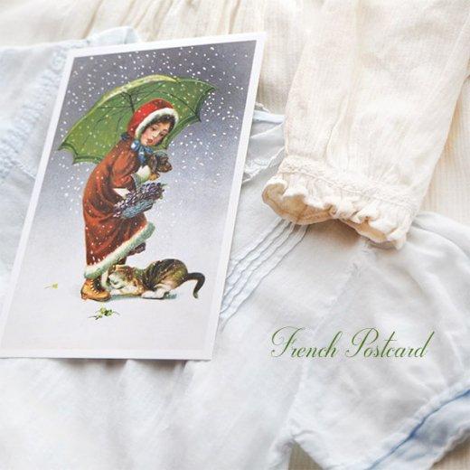 フランス クリスマス ポストカード (Tu viens avec moi?)【画像4】