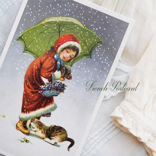 フランス クリスマス ポストカード (Tu viens avec moi?)【画像5】