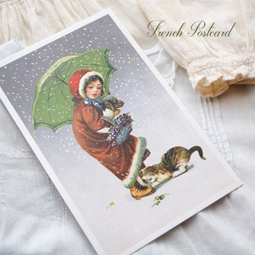 フランス クリスマス ポストカード (Tu viens avec moi?)【画像6】