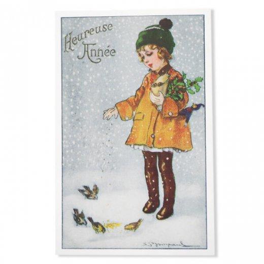 フランス クリスマス ポストカード (Heureuse annee)