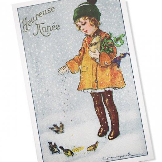 フランス クリスマス ポストカード (Heureuse annee)【画像2】