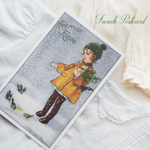 フランス クリスマス ポストカード (Heureuse annee)【画像3】