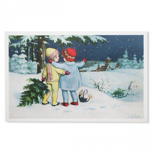 フランス クリスマス ポストカード (Toujours ensemble)