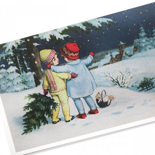 フランス クリスマス ポストカード (Toujours ensemble)【画像2】