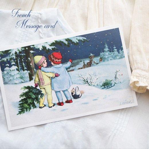 フランス クリスマス ポストカード (Toujours ensemble)【画像3】