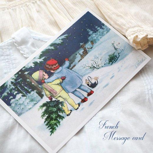 フランス クリスマス ポストカード (Toujours ensemble)【画像5】