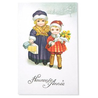 フランス クリスマス ポストカード (Heureuse annee B)