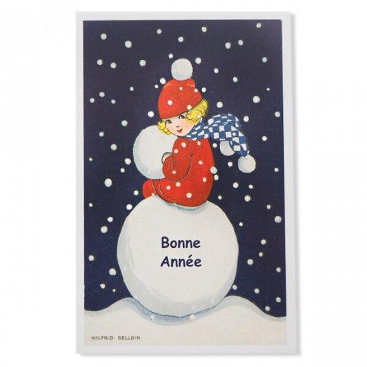 フランス クリスマス ポストカード (Bonne annee J)