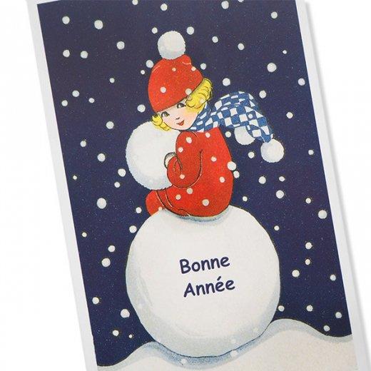 フランス クリスマス ポストカード (Bonne annee J)【画像2】