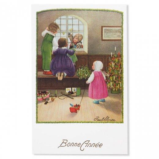 フランス クリスマス ポストカード (Bonne annee K)