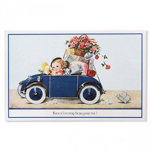 フランス ポストカード (Rose et voiture)