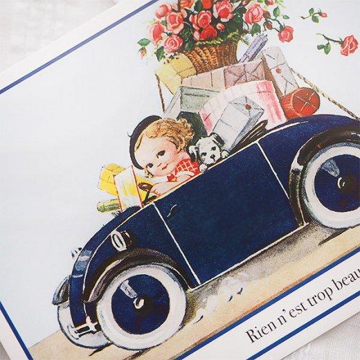 フランス ポストカード (Rose et voiture)【画像2】