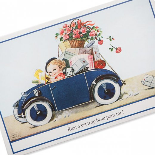 フランス ポストカード (Rose et voiture)【画像3】