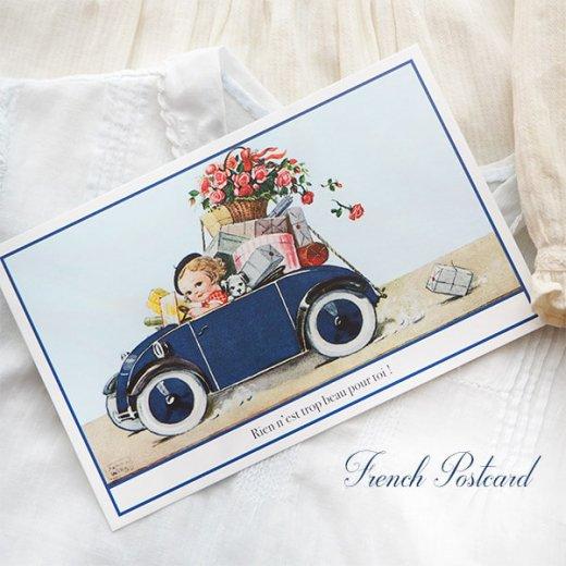 フランス ポストカード (Rose et voiture)【画像4】