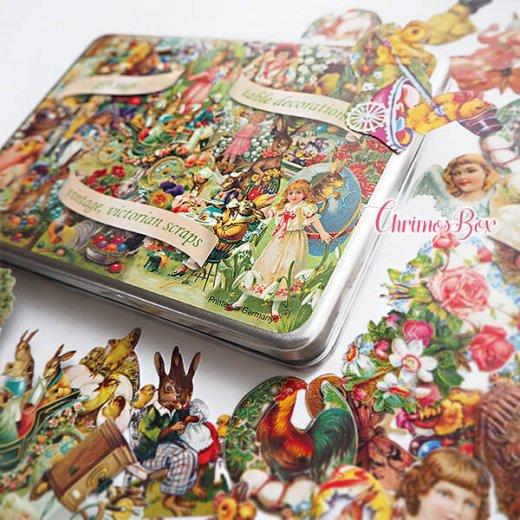 ドイツ クロモス TIN缶 ギフトボックス 【イースター 復活祭 うさぎ 天使】