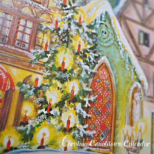 ドイツ クリスマス アドヴェントカレンダー【L】<クリスマスの門を開けて>【画像3】