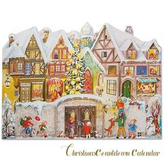 クリスマス(Xmas) 輸入 雑貨 ドイツ クリスマス アドヴェントカレンダー【L】<クリスマスの門を開けて>