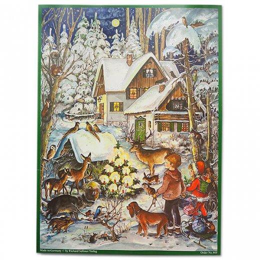 ドイツ クリスマス アドベントカレンダー【M】<森の小さなクリスマス>