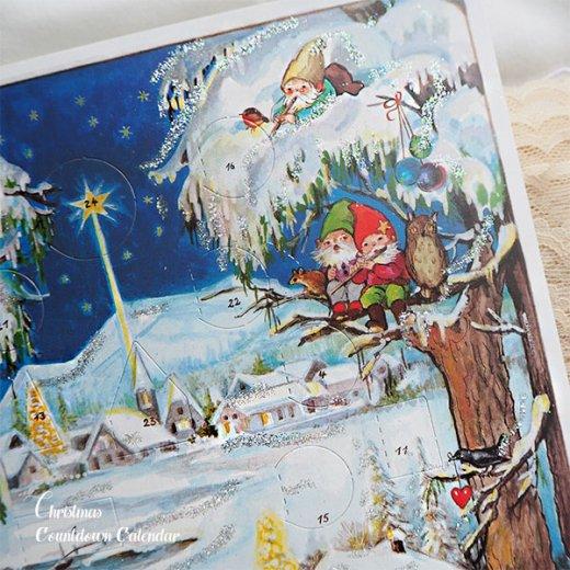 ドイツ クリスマス アドヴェントカレンダー【M】<クリスマス 小人と森の動物たち>【画像2】