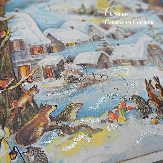 ドイツ クリスマス アドヴェントカレンダー【M】<クリスマス 小人と森の動物たち>【画像3】