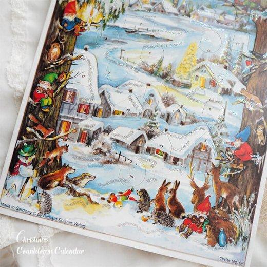 ドイツ クリスマス アドヴェントカレンダー【M】<クリスマス 小人と森の動物たち>【画像4】