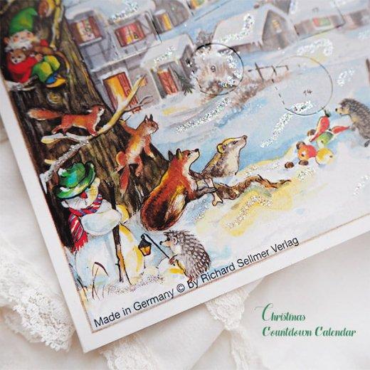 ドイツ クリスマス アドヴェントカレンダー【M】<クリスマス 小人と森の動物たち>【画像5】