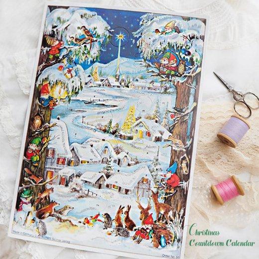 ドイツ クリスマス アドヴェントカレンダー【M】<クリスマス 小人と森の動物たち>【画像7】