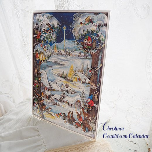 ドイツ クリスマス アドヴェントカレンダー【M】<クリスマス 小人と森の動物たち>【画像8】